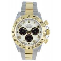 As New Rolex Cosmograph Daytona Steel & Gold White-Black 116523