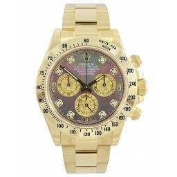 Rolex Cosmograph Daytona Gold Crystals/8 Diamond 116528