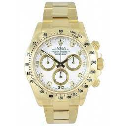 Rolex Cosmograph Daytona White/8 Diamond 116528
