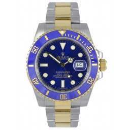 Rolex Submariner Steel and Gold Blue Dial 116613LB