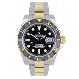 Mint Rolex Submariner Steel and 18ct Gold- 116613LN