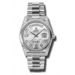 Rolex Day-Date White mop/Diamond President 118296