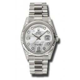 Rolex Day-Date White mop/Diamond President 118339