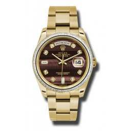 Rolex Day-Date 36mm Bull'S Eye/diamond Oyster 118398 BR