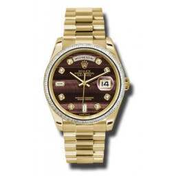 Rolex Day-Date 36mm Bull'S Eye/diamond President 118398 BR