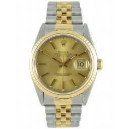 Rolex Datejust Champagne/Index Jubilee 16233
