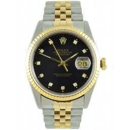 Rolex Datejust Black/Diamond Jubilee 16233