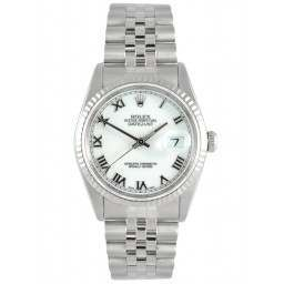 Rolex Oyster Perpetual Datejust White Roman 16234