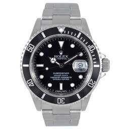 Rolex Submariner Date Black Dial 16610