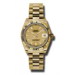 Rolex Lady Datejust 31mm Champagne/index President 178278