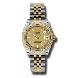 Rolex Datejust 31mm Steel & Yellow Gold Champagne/index Jubilee 178313