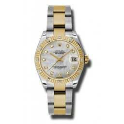 Rolex Datejust 31mm Steel&Yellow Gold White mop/Diamond Oyster 178313
