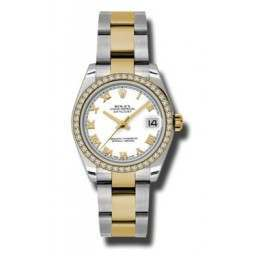 Rolex Lady Datejust 31mm White Roman Oyster 178383