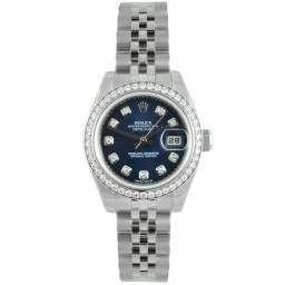 Rolex Lady-Datejust Blue/Diamond Jubilee 179384