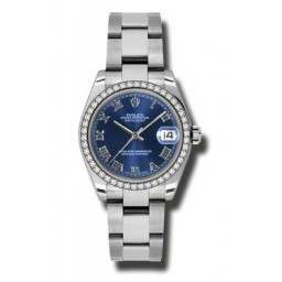 Rolex Lady Datejust 31mm Blue Roman Oyster 178384