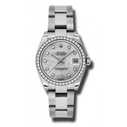 Rolex Lady Datejust 31mm White mop/diamond Oyster 178384