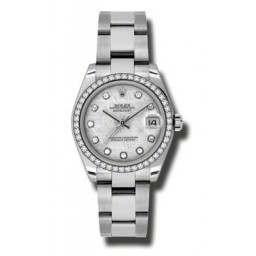 Rolex Lady Datejust 31mm Meteorite/diamond Oyster 178384