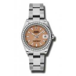 Rolex Lady Datejust 31mm Pink/index Oyster 178384