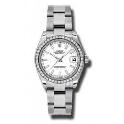 Rolex Lady Datejust 31mm White/index Oyster 178384