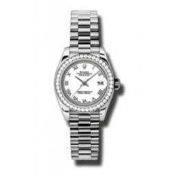 Rolex Lady-Datejust White Roman President 179136