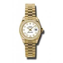 Rolex Lady-Datejust White/Diamond President 179138