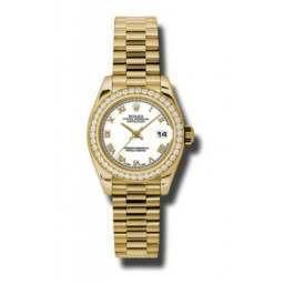 Rolex Lady-Datejust White Roman President 179138