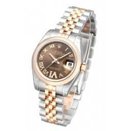 Rolex Lady-Datejust Chocolate Roman Jubilee 179161