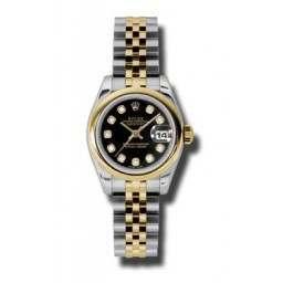 Rolex Lady-Datejust Black/Diamond Jubilee 179163