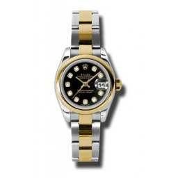 Rolex Lady-Datejust Black/Diamond Oyster 179163