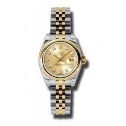 Rolex Lady-Datejust Champagne/Diamond Jubilee 179163