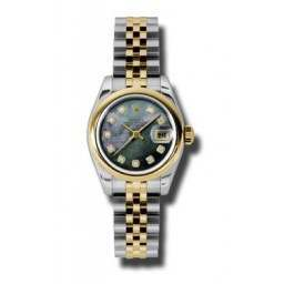 Rolex Lady-Datejust Black mop/Diamond Jubilee 179163