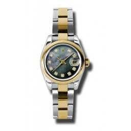 Rolex Lady-Datejust Black mop/Diamond Oyster 179163