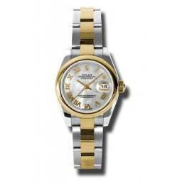Rolex Lady-Datejust White mop Roman Oyster 179163