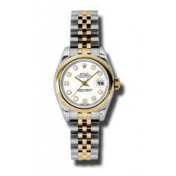 Rolex Lady-Datejust White/Diamond Jubilee 179163