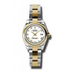 Rolex Lady-Datejust White Roman Oyster 179163