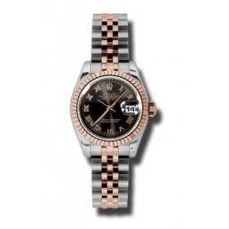 Rolex Lady-Datejust Black Roman Jubilee 179171