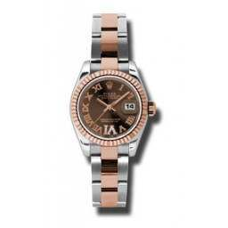 Rolex Lady-Datejust Chocolate Roman Oyster 179171