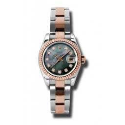 Rolex Lady-Datejust Black mop/Diamond Oyster 179171
