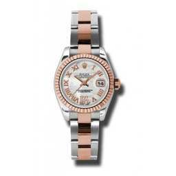 Rolex Lady-Datejust White mop Roman Oyster 179171
