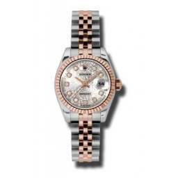 Rolex Lady-Datejust Silver Jub/Diamond Jubilee 179171