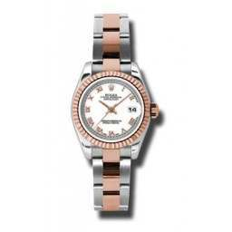Rolex Lady-Datejust White Roman Oyster 179171
