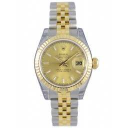 Rolex Lady-Datejust Champagne/index Jubilee 179173