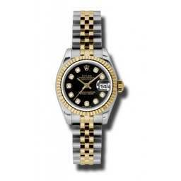 Rolex Lady-Datejust Black/Diamond Jubilee 179173