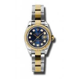 Rolex Lady-Datejust Blue/Diamond Oyster 179173