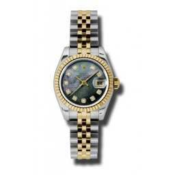 Rolex Lady-Datejust Black mop/Diamond Jubilee 179173