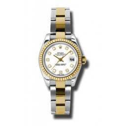 Rolex Lady-Datejust White/Diamond Oyster 179173
