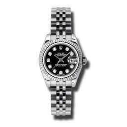 Rolex Lady-Datejust Black/Diamond Jubilee 179174