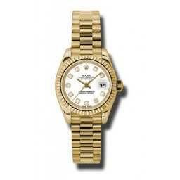 Rolex Lady-Datejust White/Diamond President 179178