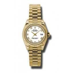Rolex Lady-Datejust White Roman President 179178