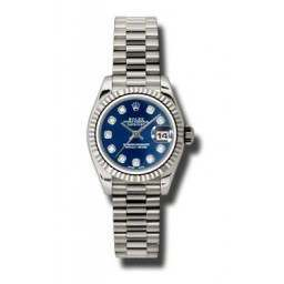 Rolex Lady-Datejust Blue/Diamond President 179179